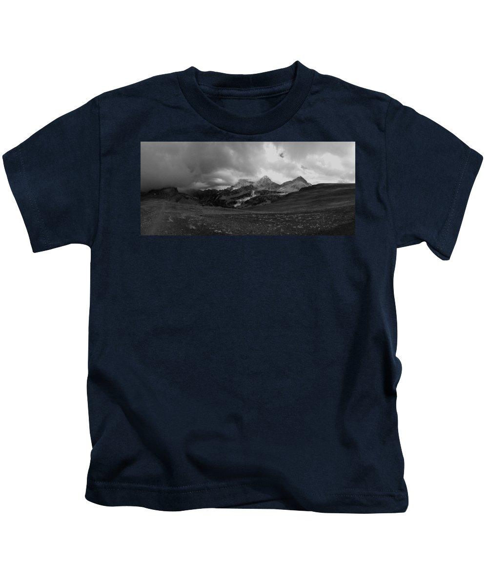 Tetons Kids T-Shirt featuring the photograph Hurricane Pass Storm by Raymond Salani III