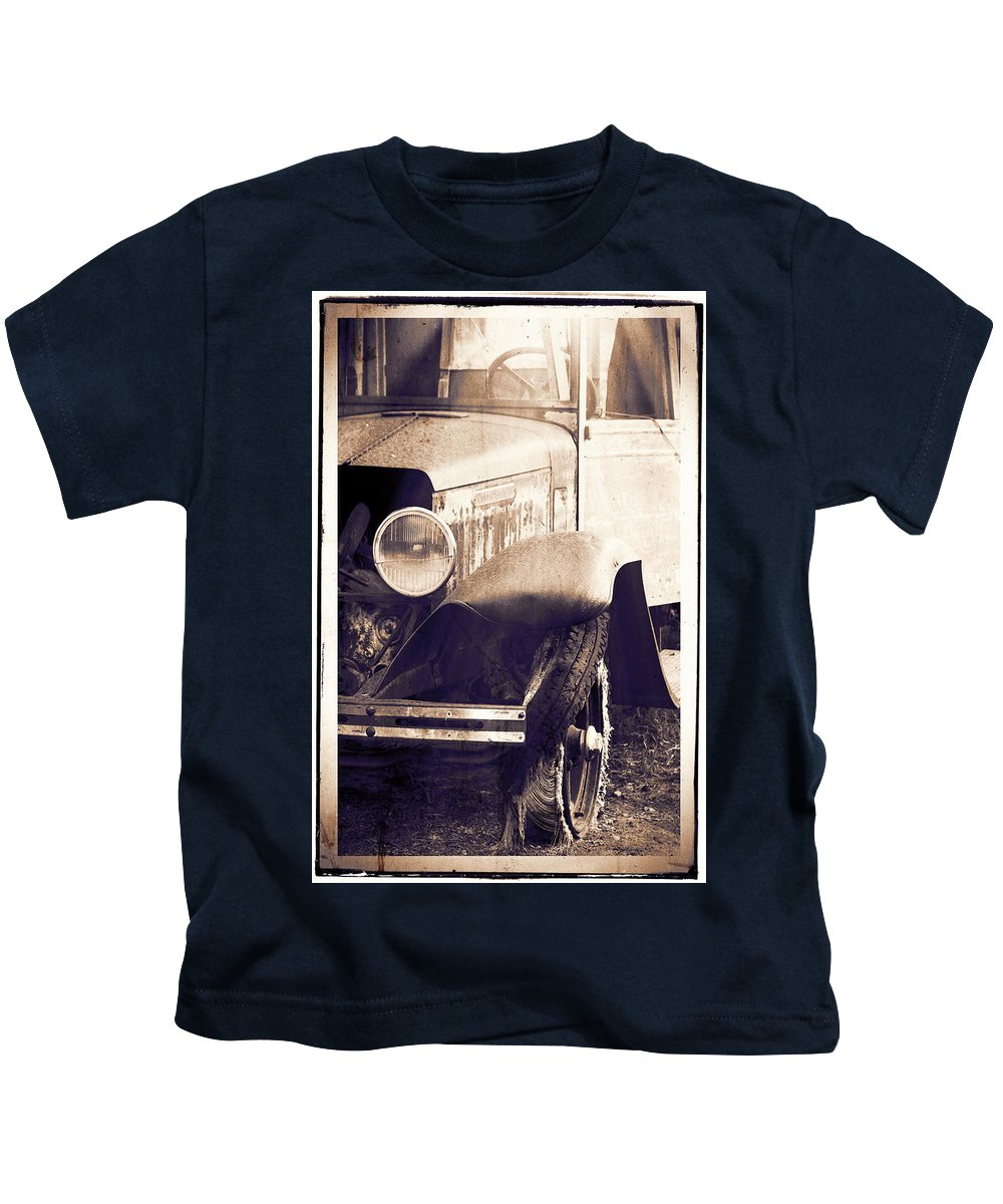 Truck Kids T-Shirt featuring the photograph Hurry Sundown by Terry Fiala