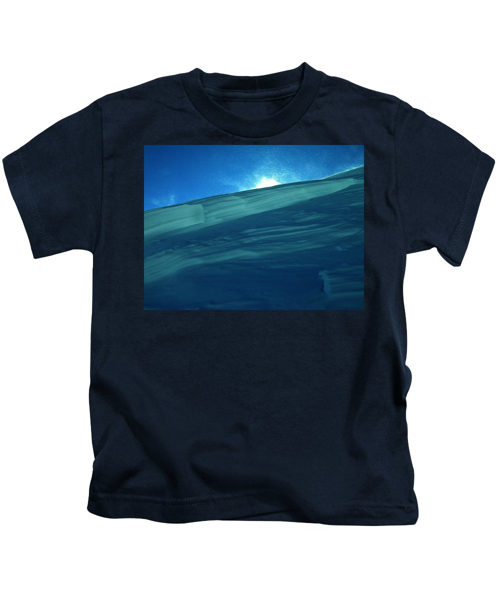 Colette Kids T-Shirt featuring the photograph Ice Snow Formation Ischgl In Austria by Colette V Hera Guggenheim