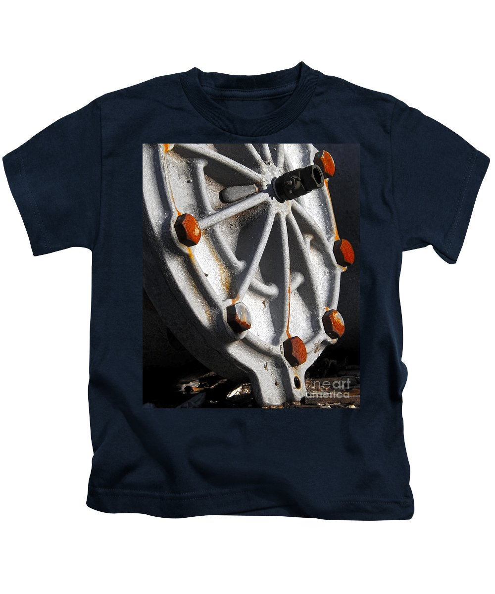 Circle Kids T-Shirt featuring the photograph Industrial Object Art by James Aiken