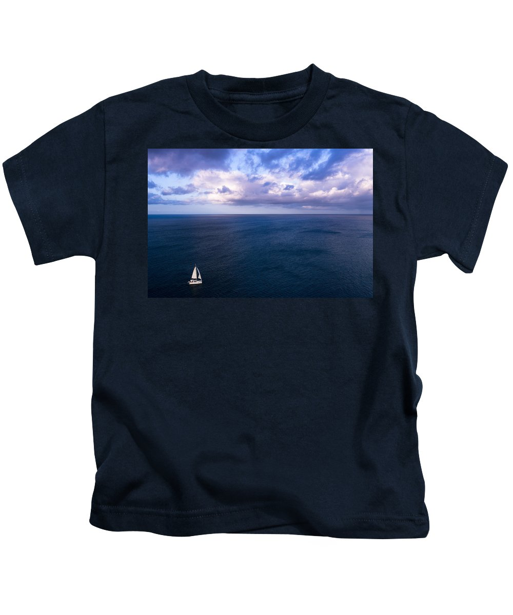 Landscape Kids T-Shirt featuring the photograph Into The Blues by Ferry Zievinger