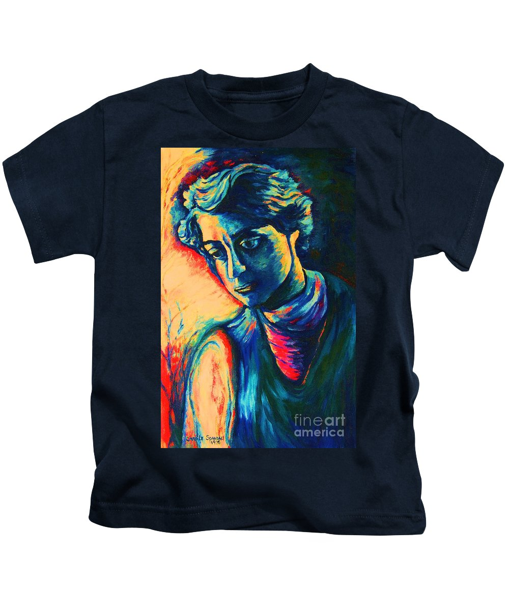 Joseph From The Bible Kids T-Shirt featuring the painting Joseph The Dreamer by Carole Spandau