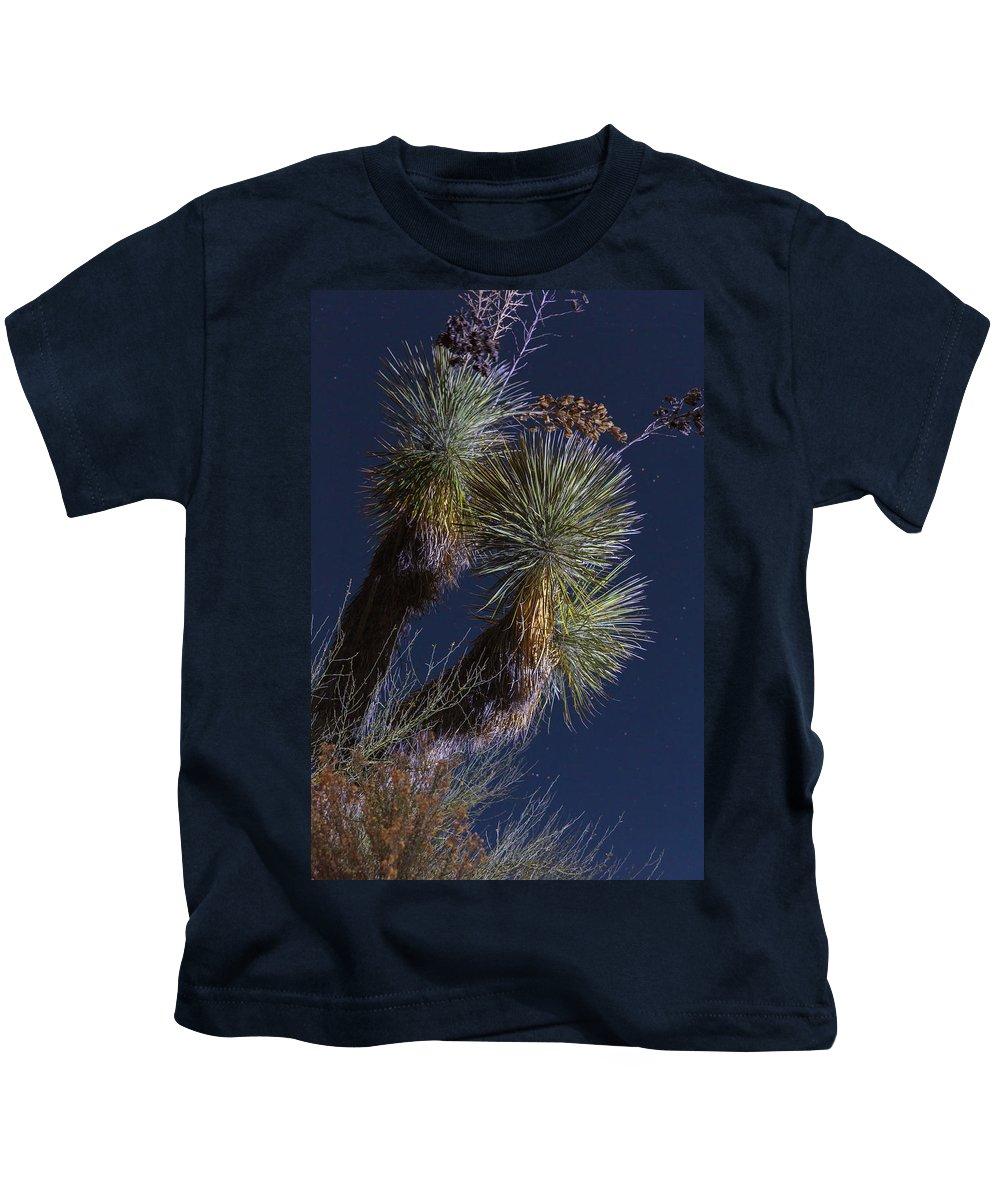 Arizona Kids T-Shirt featuring the photograph Joshua Tree By Moonlight by Rick Berk