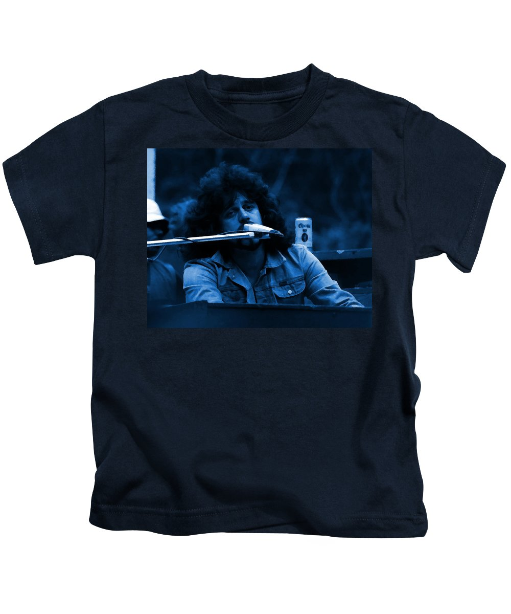 Journey Kids T-Shirt featuring the photograph Journey #6 Crop 3 Enhanced In Blue by Ben Upham