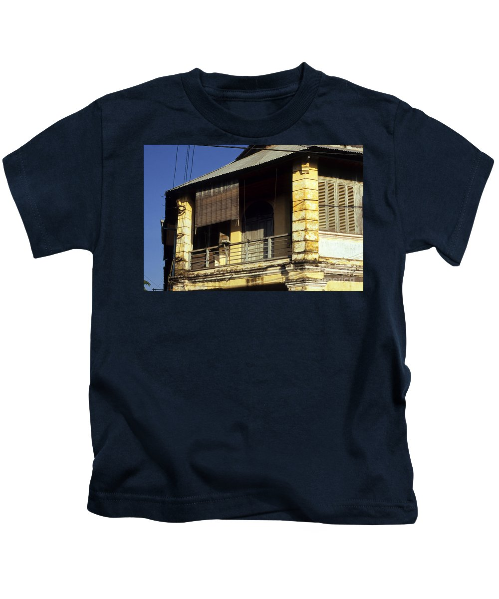 Cambodia Kids T-Shirt featuring the photograph Kampot Old Colonial 02 by Rick Piper Photography