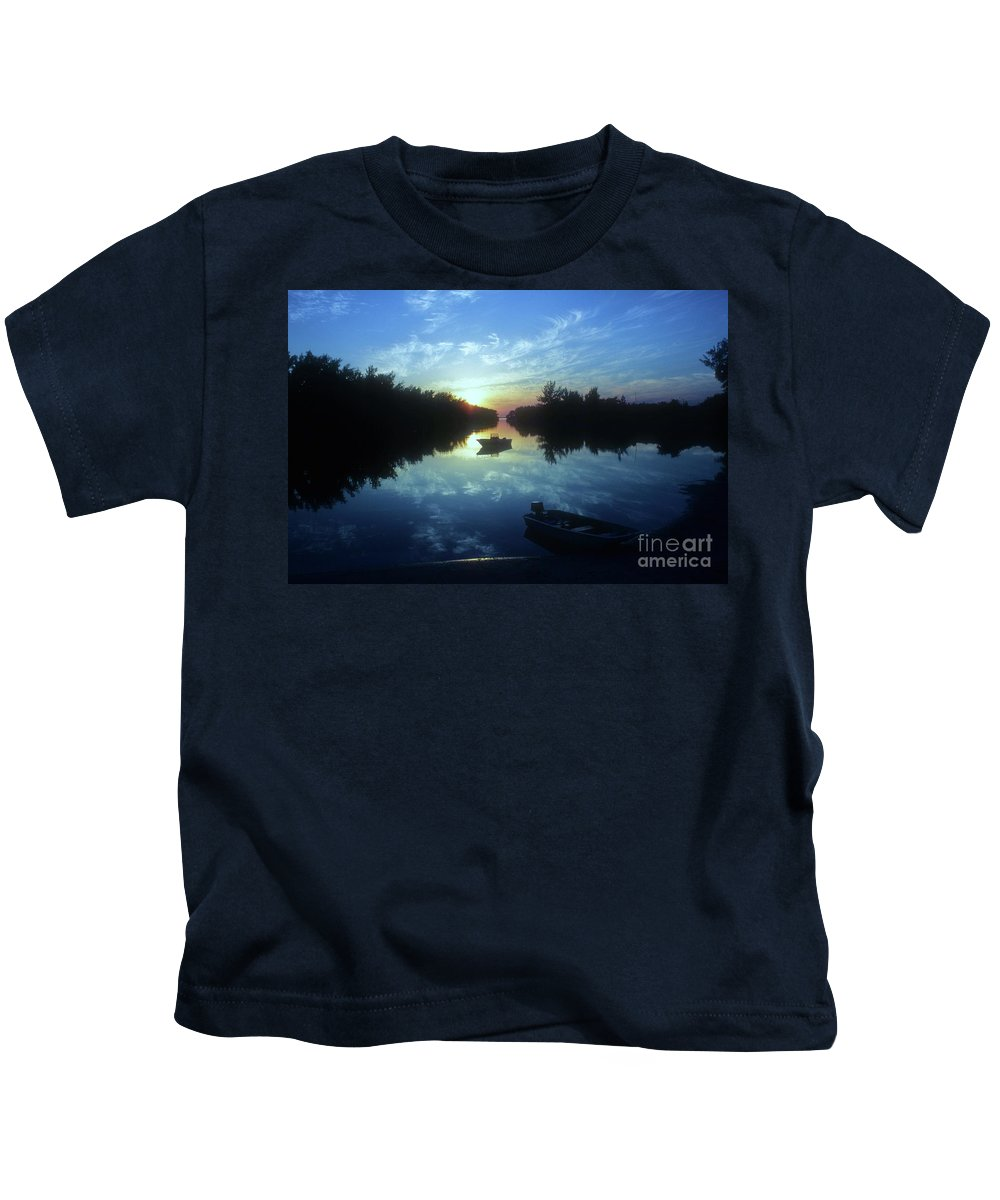 Key Biscayne Sunset Kids T-Shirt featuring the photograph Key Biscayne Sunset 2 by Allen Beatty
