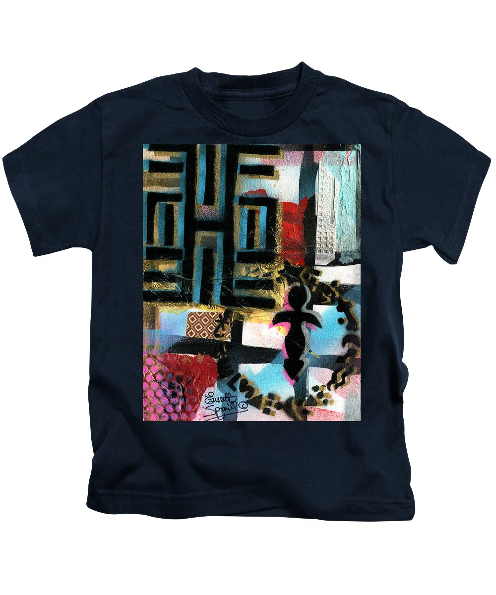 Everett Spruill Kids T-Shirt featuring the painting Knowledge Is Power by Everett Spruill