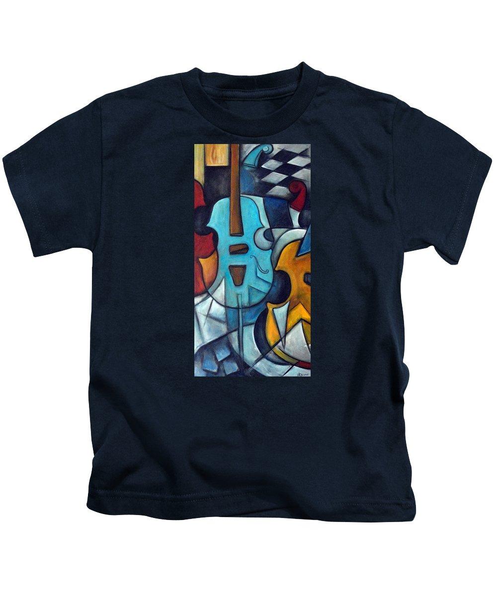 Music Kids T-Shirt featuring the painting La Musique 2 by Valerie Vescovi