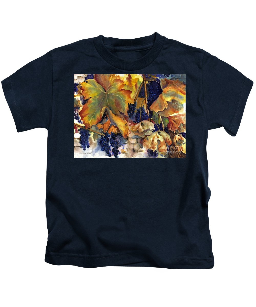 Still Life Kids T-Shirt featuring the painting The Magic Of Autumn by Maria Hunt