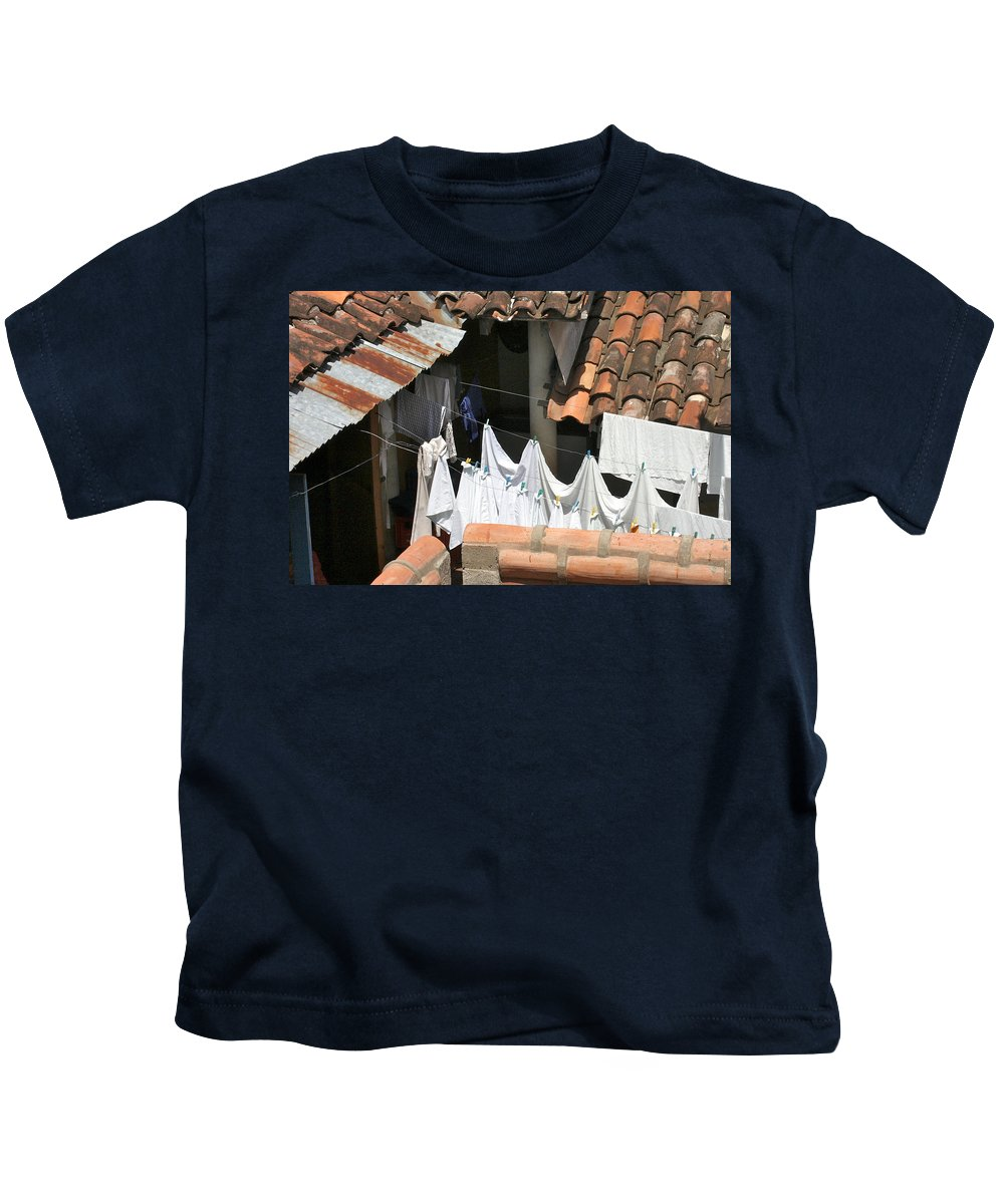 Laundry Kids T-Shirt featuring the photograph Laundry by David Beebe