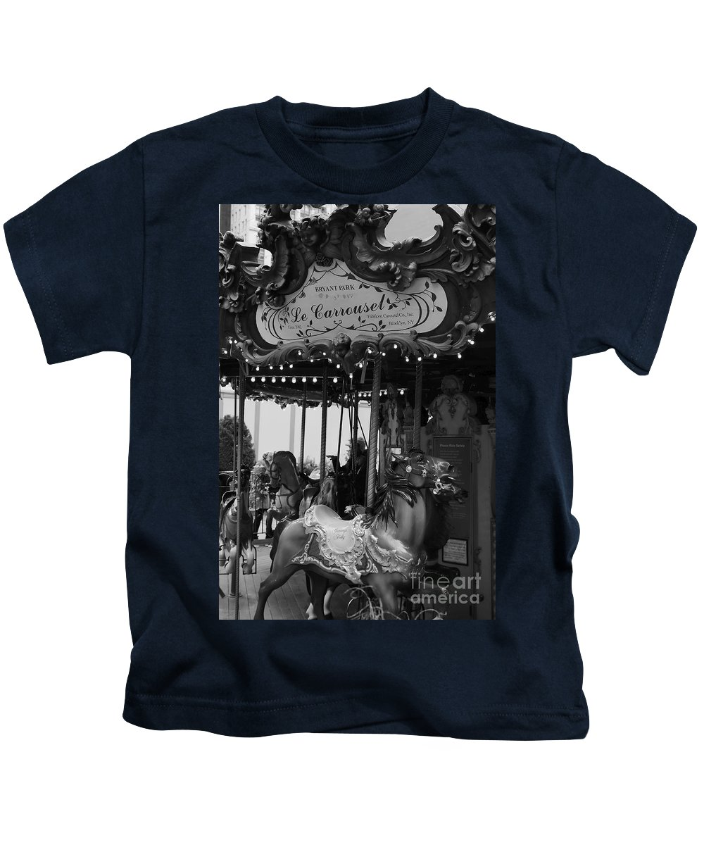New York City Kids T-Shirt featuring the photograph Le Carrousel by David Rucker