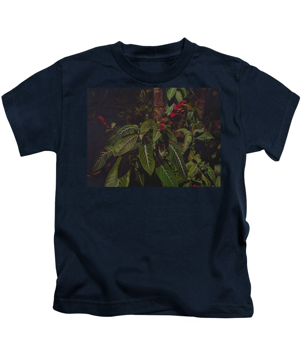 Leaves Kids T-Shirt featuring the painting Leaving Monroe by Thu Nguyen