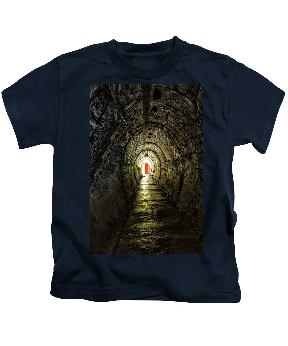 Decay Kids T-Shirt featuring the photograph Light At The End Of The Tunnel by Russ Dixon