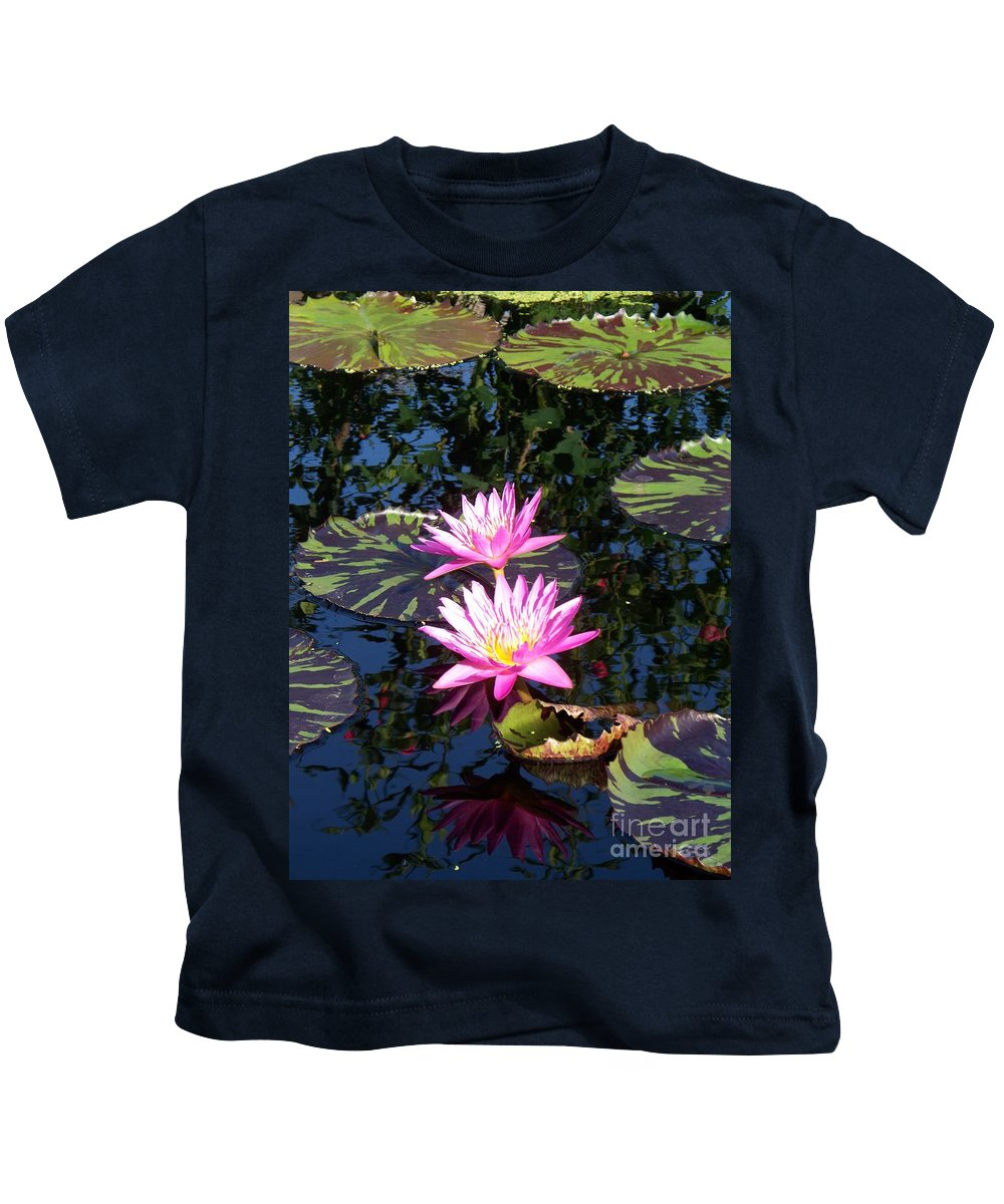 Lily Kids T-Shirt featuring the painting Lily Monet by Eric Schiabor