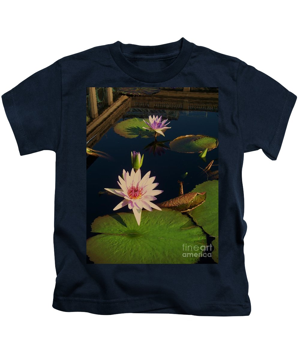 Photograph Kids T-Shirt featuring the photograph Lily White Monet by Eric Schiabor