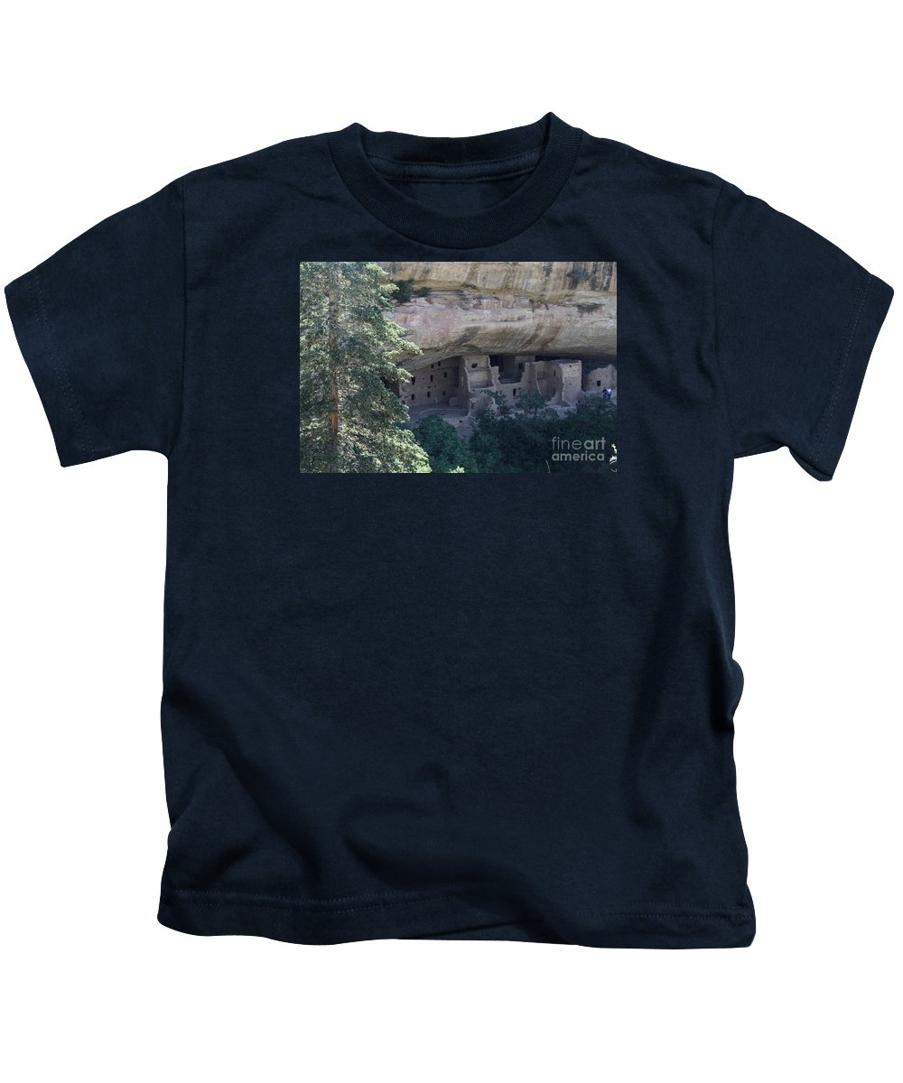 Spruce Tree House Kids T-Shirt featuring the photograph Long View Of Spruce Tree House by Christiane Schulze Art And Photography