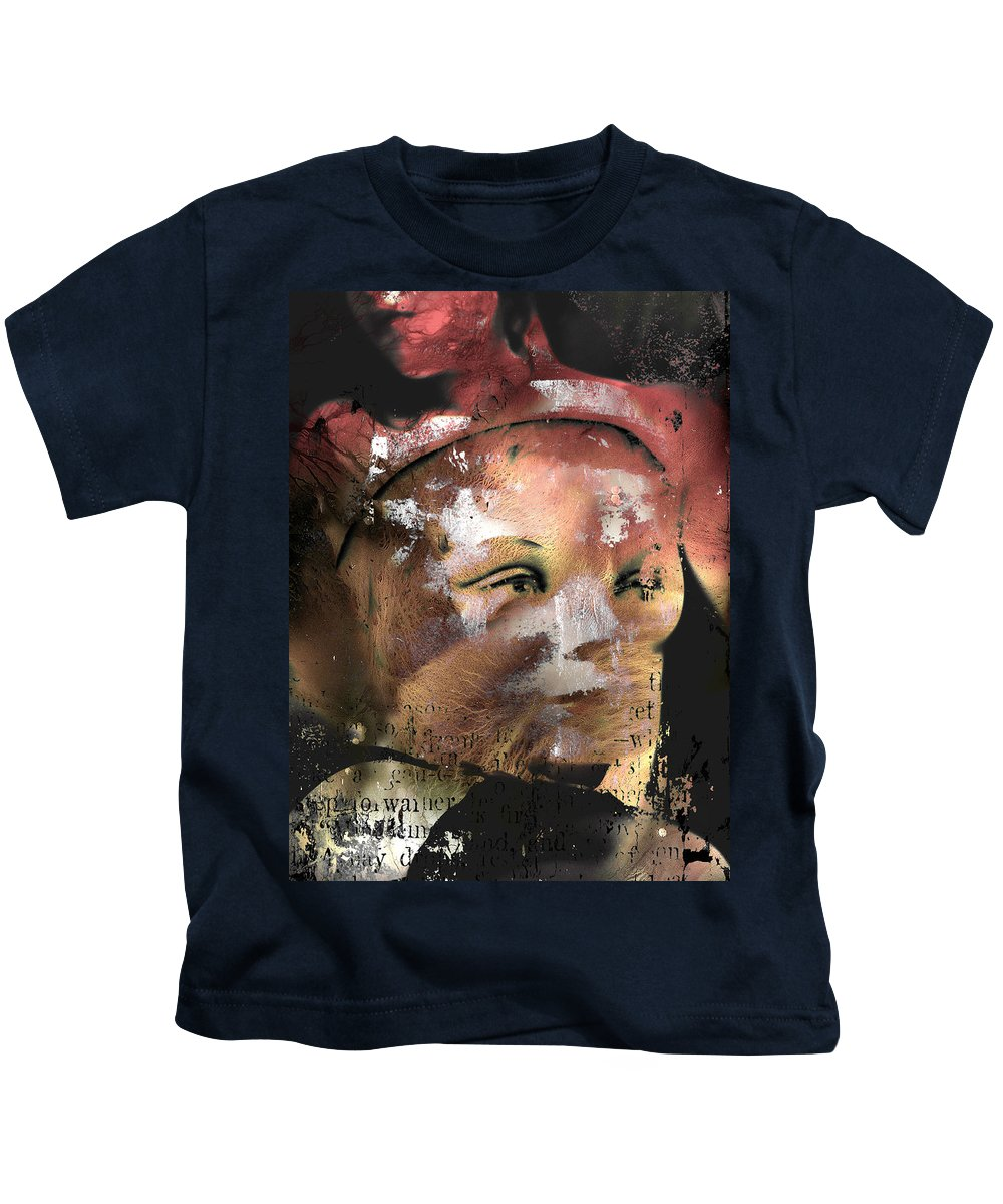 Abstract Art Kids T-Shirt featuring the photograph Look Beyond Love by The Artist Project