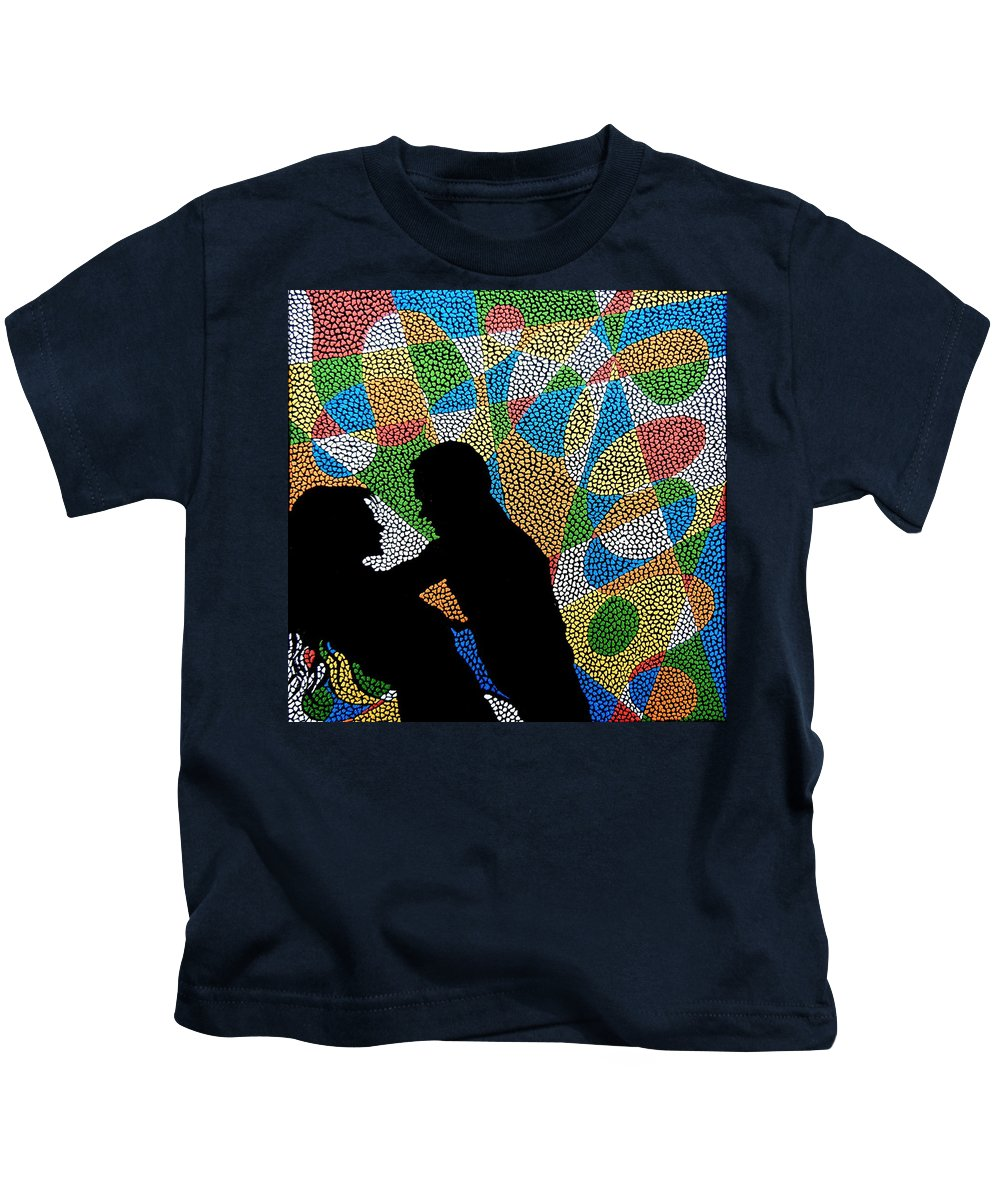 Love Kids T-Shirt featuring the painting One Kiss by Kruti Shah