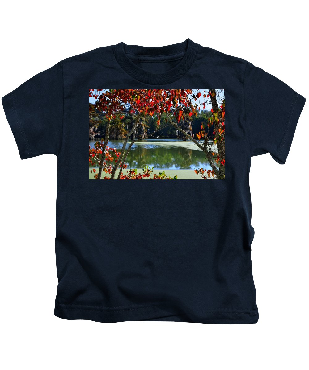 Fall Kids T-Shirt featuring the photograph Louisiana Fall by Charlotte Schafer