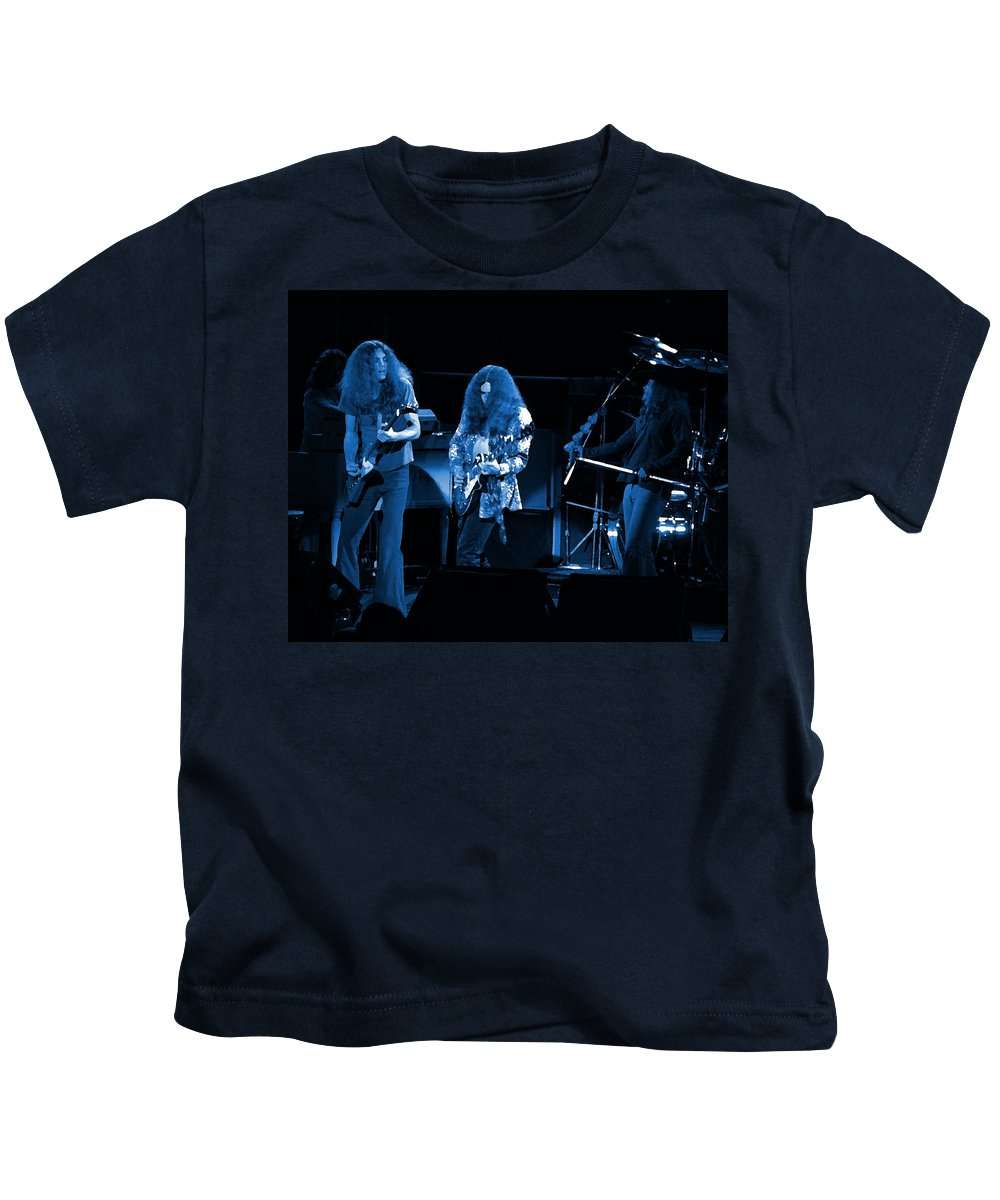 Lynyrd Skynyrd Kids T-Shirt featuring the photograph Ls Spo #21 In Blue by Ben Upham