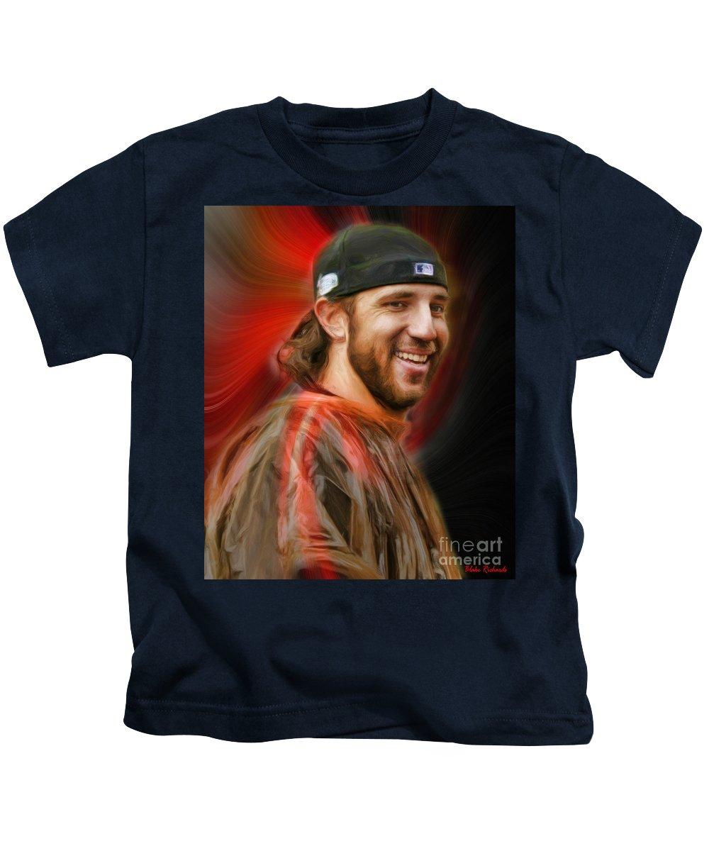 Madison Bumgarner Kids T-Shirt featuring the photograph Madison Bumgarner San Francisco Giants by Blake Richards