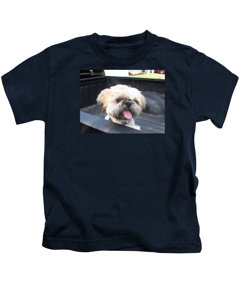 Dog Kids T-Shirt featuring the photograph Max 1 by Shari Bailey