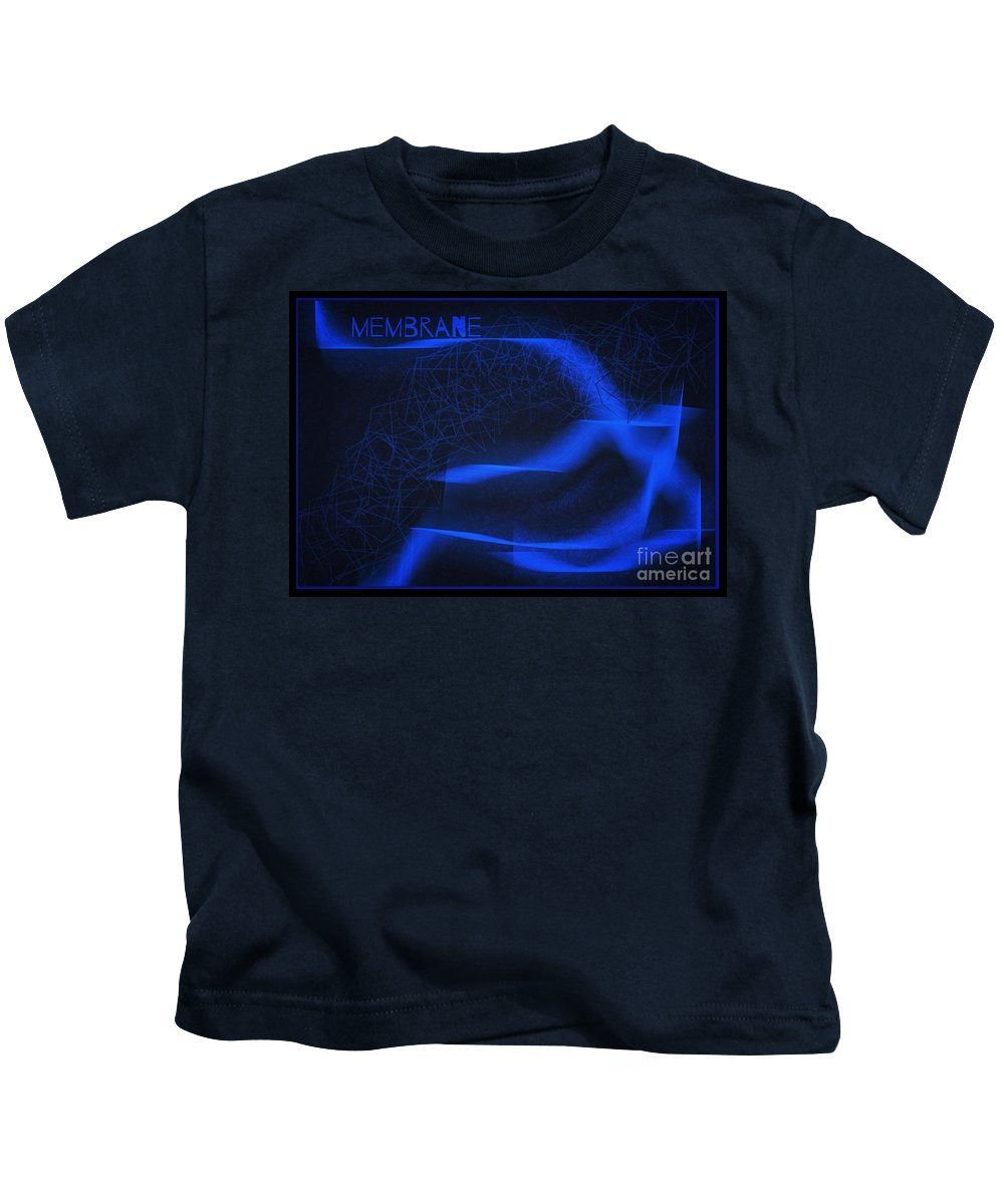 Membrane Kids T-Shirt featuring the digital art Membrane 3 by Joan-Violet Stretch