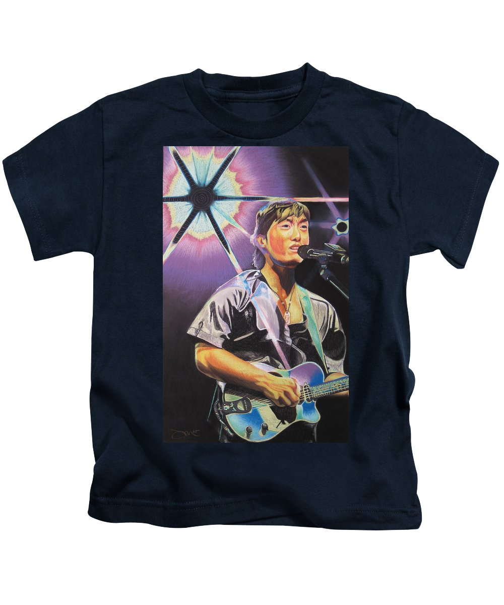 Michael Kang Kids T-Shirt featuring the drawing Micheal Kang by Joshua Morton