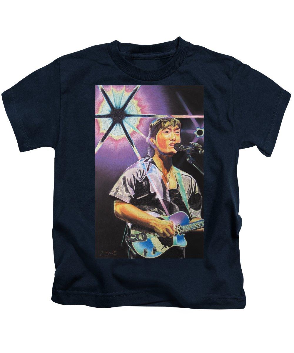 Michael Kang Kids T-Shirt featuring the drawing Micheal Kang by Joshua Morton