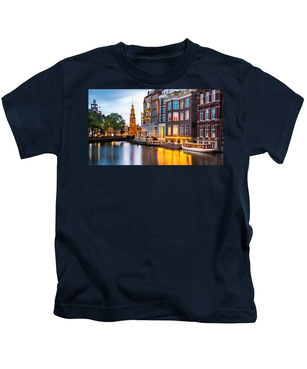Nl Kids T-Shirt featuring the photograph Mint Tower by Mihai Andritoiu