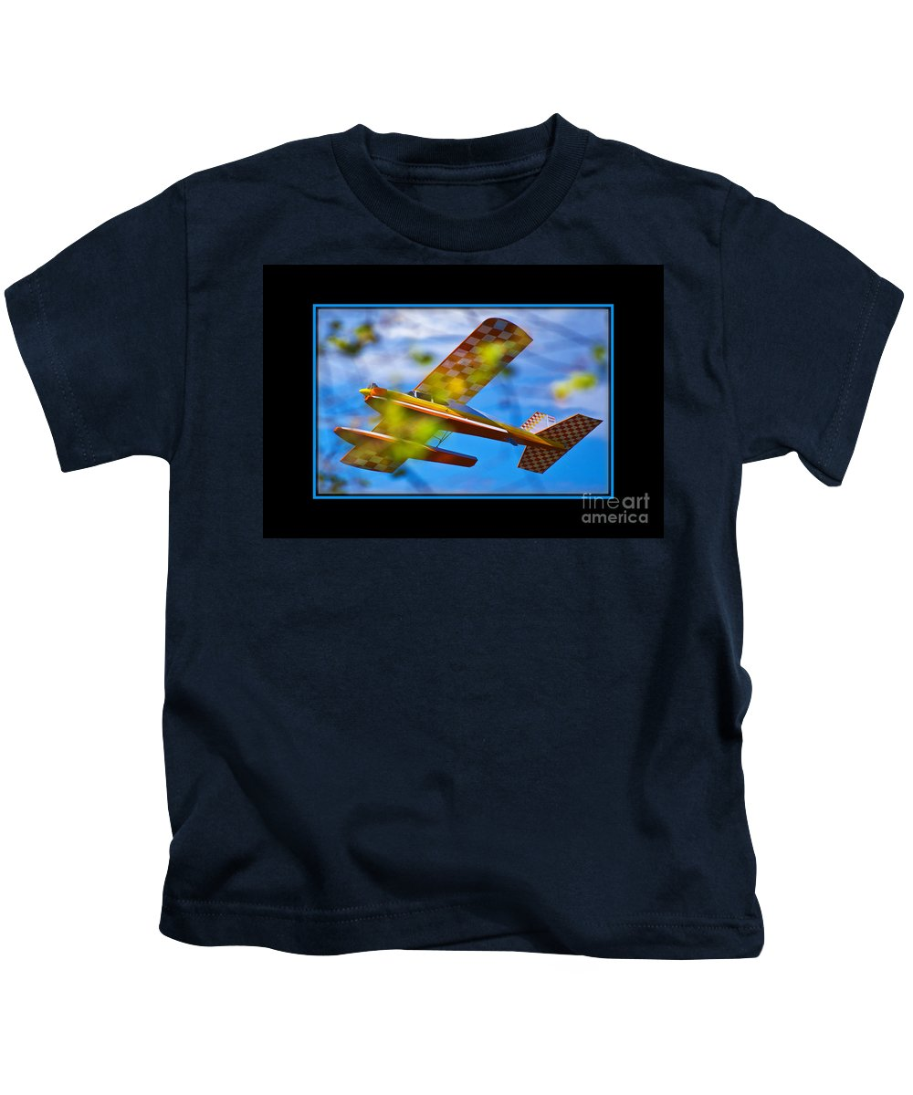 Plane Kids T-Shirt featuring the photograph Model Plane 2 by Larry White