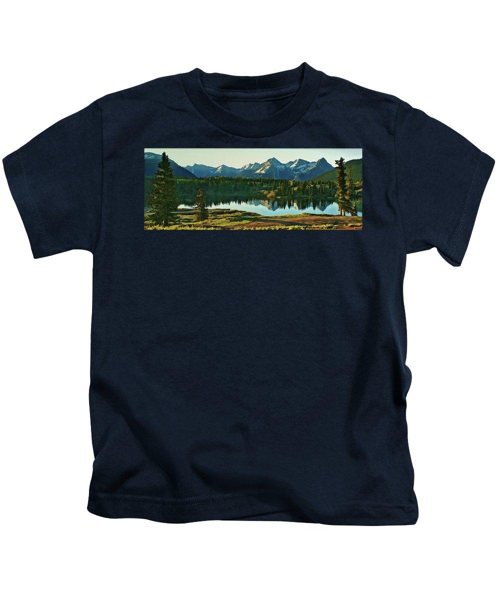 Sunrise Kids T-Shirt featuring the photograph Molas Lake Sunrise by Priscilla Burgers