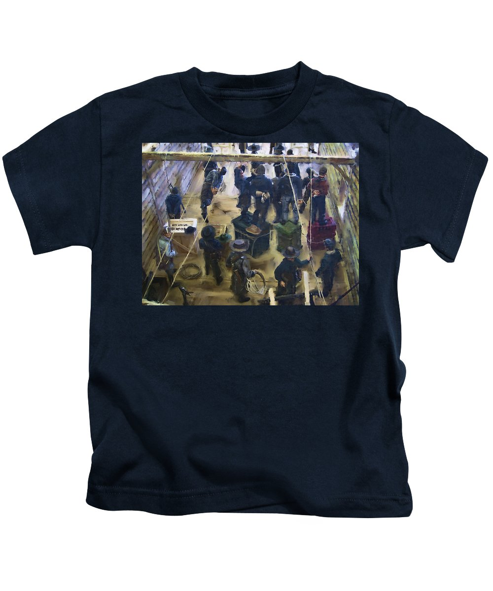Montana Kids T-Shirt featuring the digital art Montana Justice  January 14 1864 by Daniel Hagerman