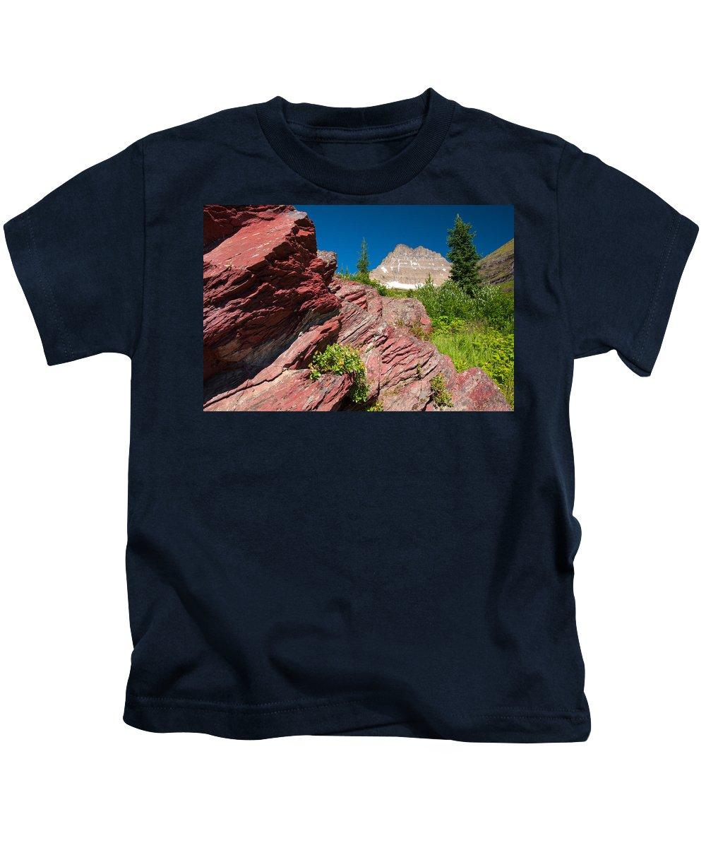 Glacier Kids T-Shirt featuring the photograph Mount Wilbur by Steve Stuller