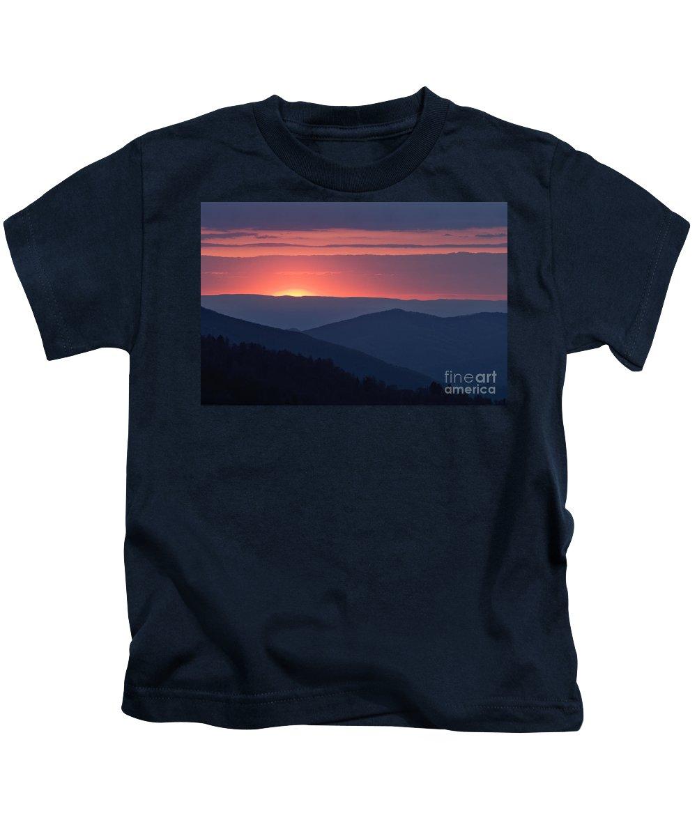 Great Kids T-Shirt featuring the photograph Mountain Sunset - D008988 by Daniel Dempster