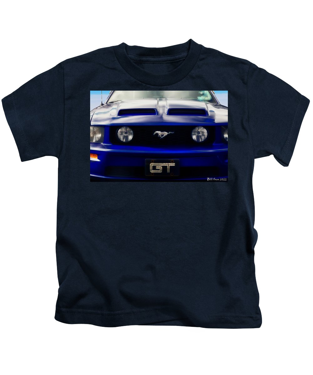 Ford Mustang Kids T-Shirt featuring the photograph Mustang Gt by Bill Cannon