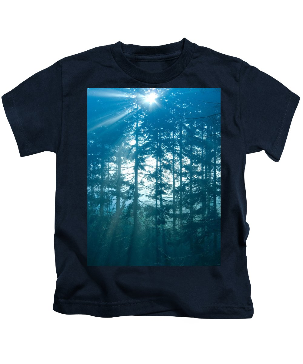 Nature Kids T-Shirt featuring the photograph Mystic Light by Daniel Csoka