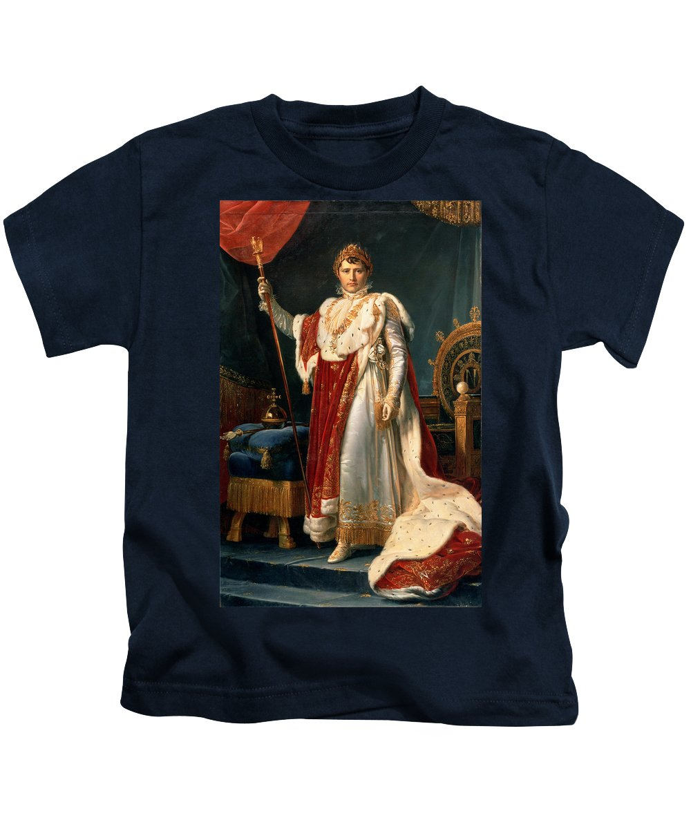 Emperor Kids T-Shirt featuring the painting Napoleon Bonaparte by Francois Pascal Simon, Baron Gerard