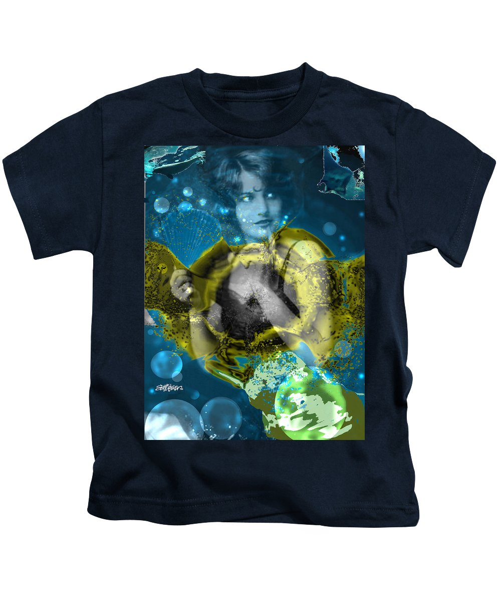 Neptune's Daughter Kids T-Shirt featuring the digital art Neptune's Daughter by Seth Weaver