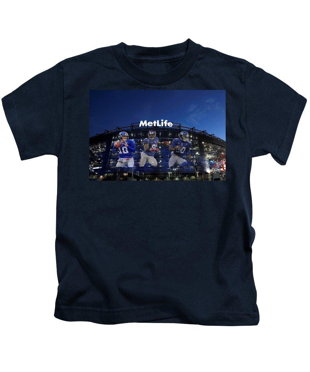 Giants Kids T-Shirt featuring the photograph New York Giants Metlife Stadium by Joe Hamilton