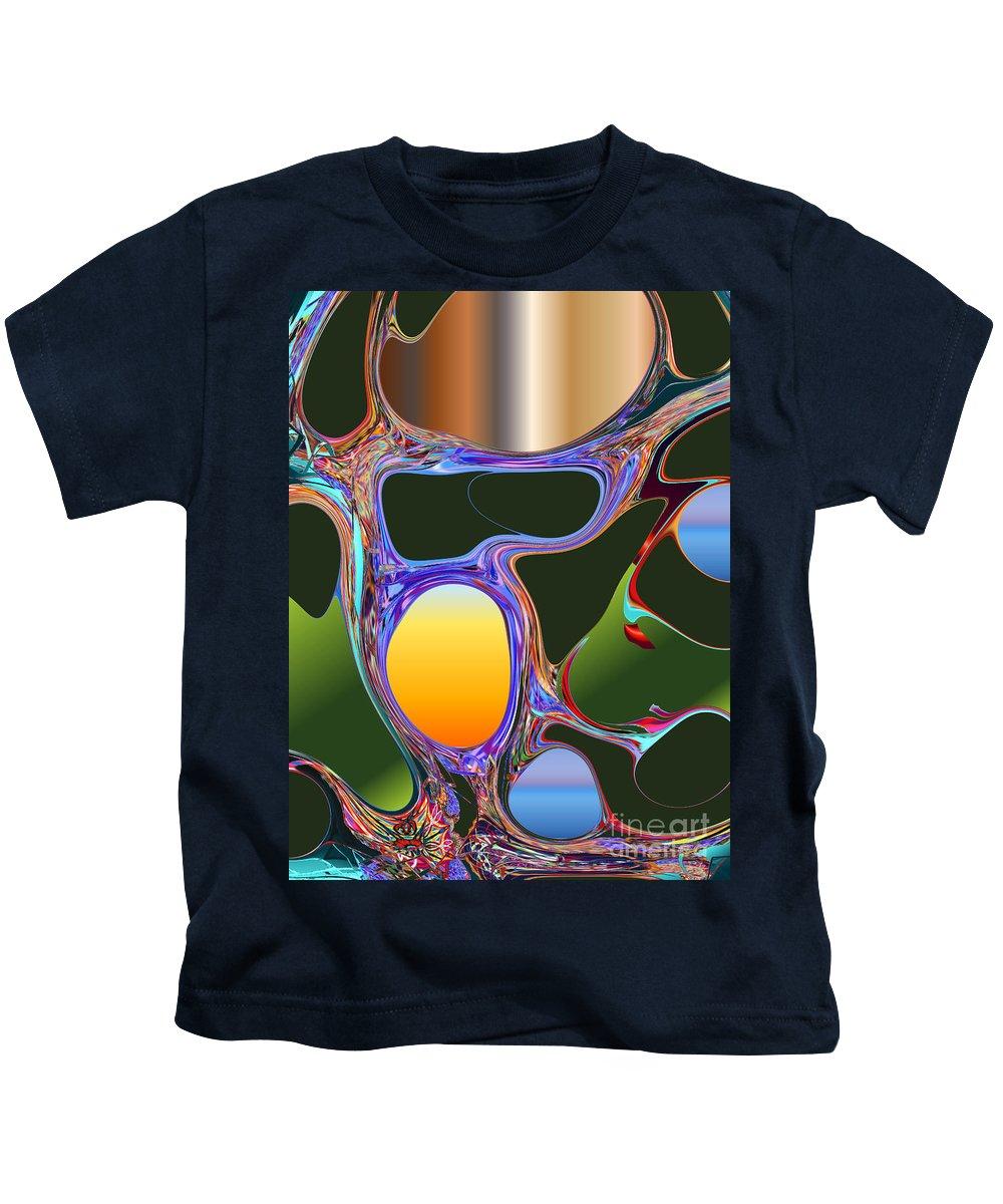 Kids T-Shirt featuring the digital art No. 829 by John Grieder