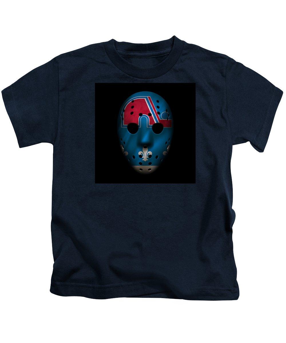 Nordique Kids T-Shirt featuring the photograph Nordiques Jersey Mask by Joe Hamilton