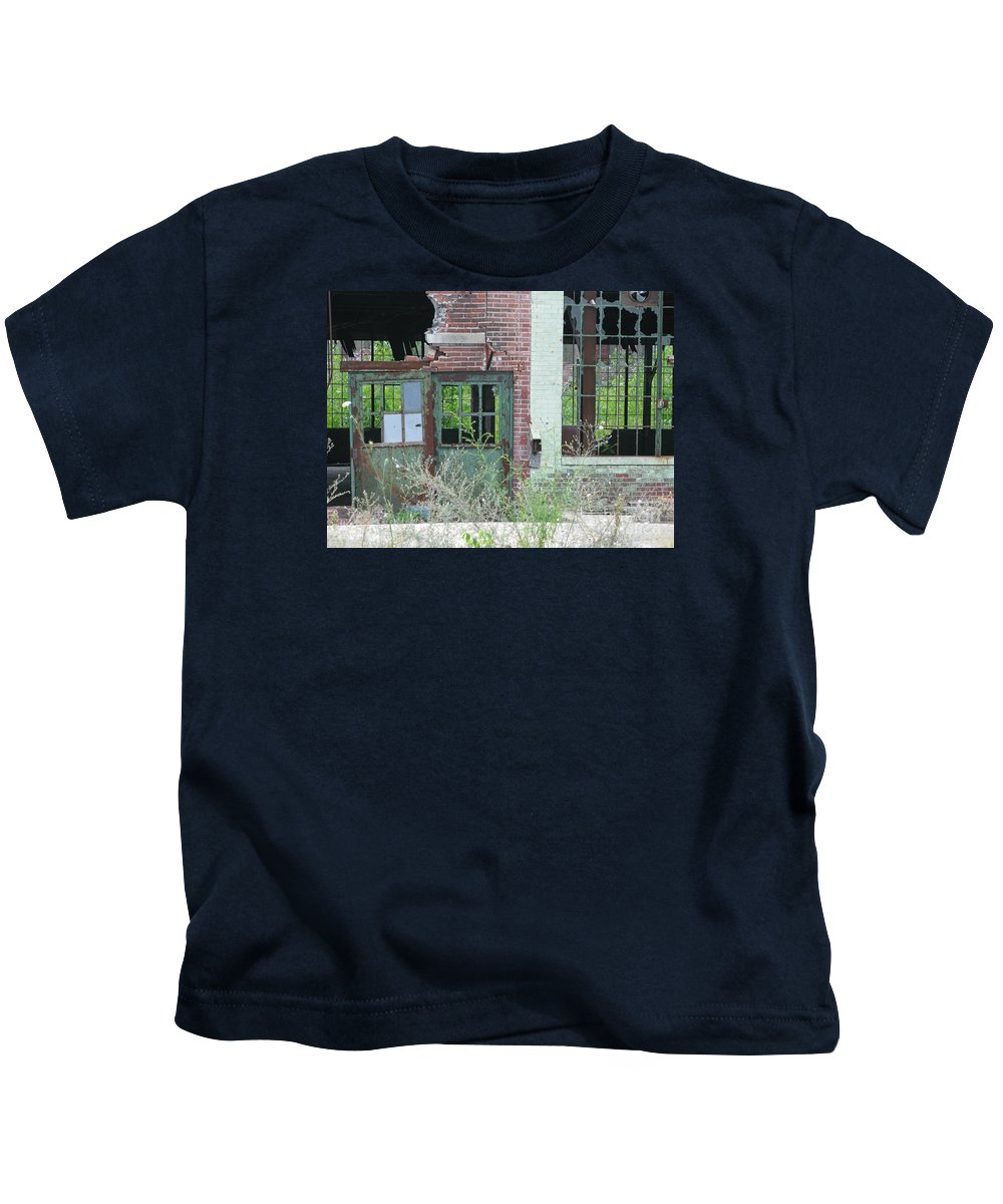 Factory Kids T-Shirt featuring the photograph Obsolete by Ann Horn