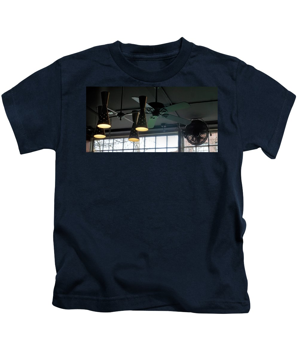Kids T-Shirt featuring the photograph On The Ceiling by Cathy Anderson