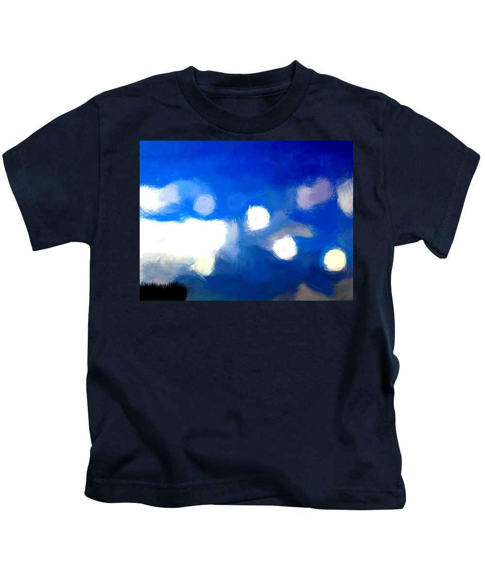 Cloud Kids T-Shirt featuring the painting Only A Few More Days by Bruce Nutting