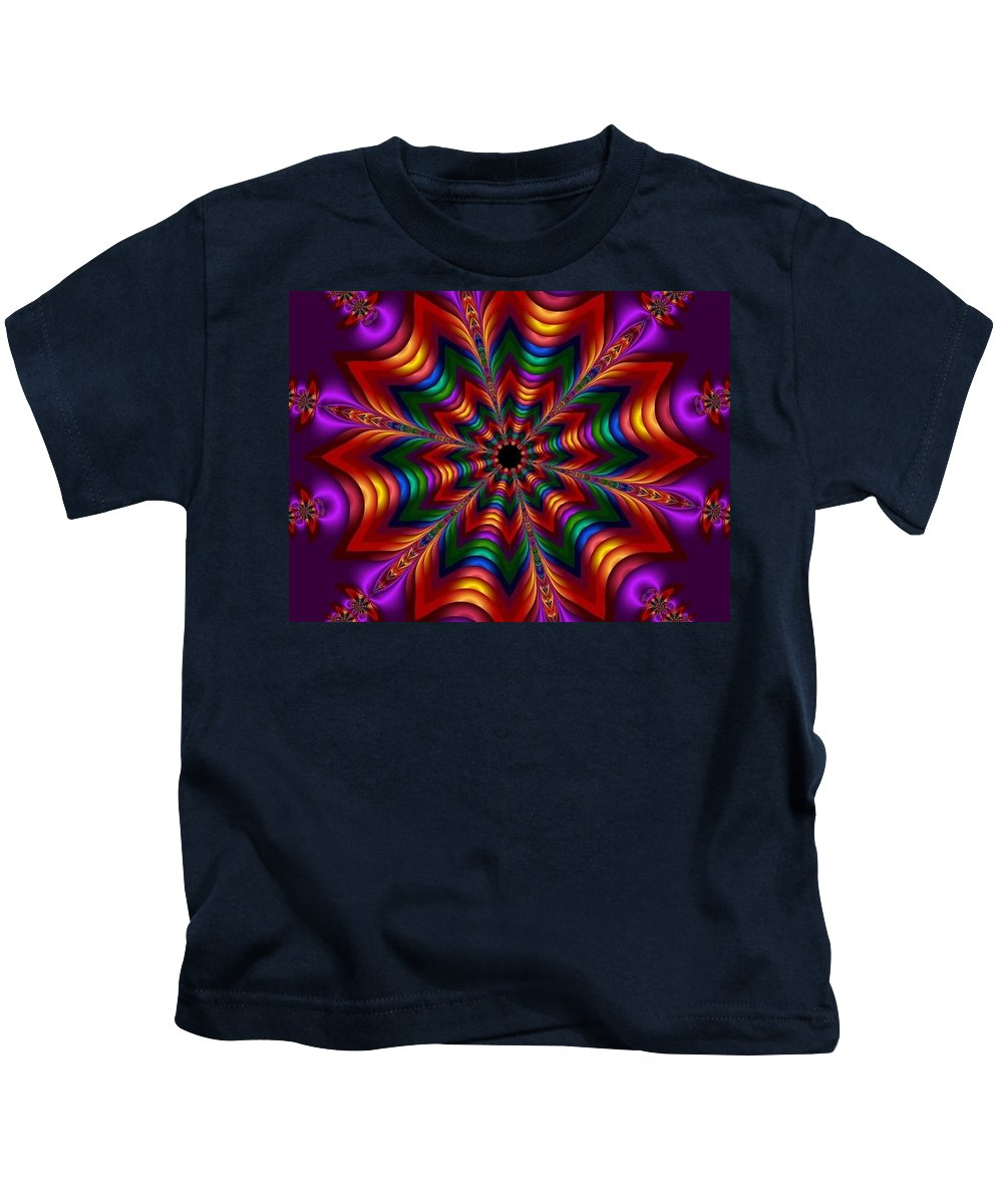 Fractal Kids T-Shirt featuring the painting Oriental Ornament by Bruce Nutting