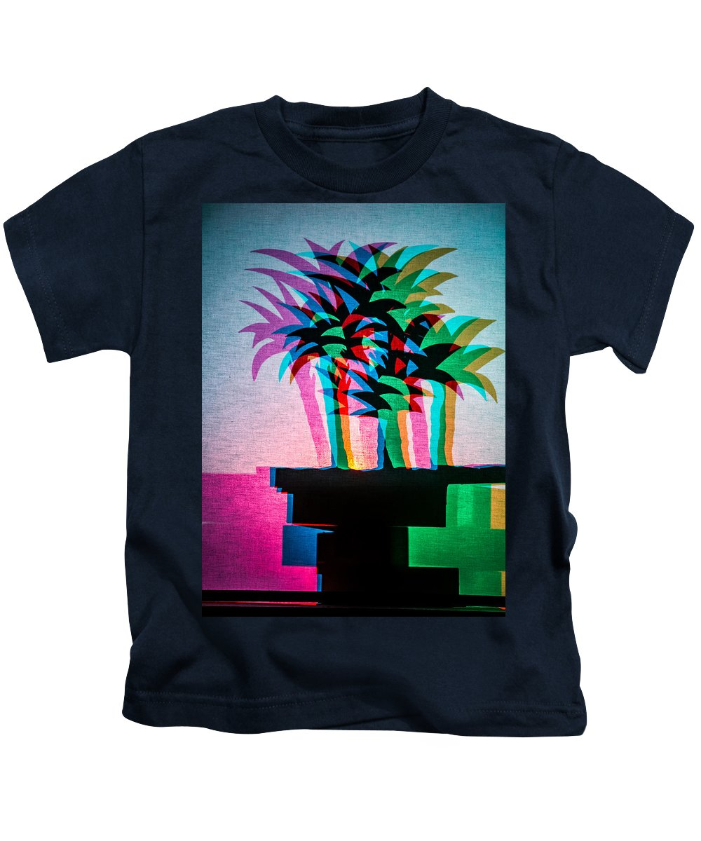 Silhouette Kids T-Shirt featuring the digital art Palm Tree Silhouette by Georgianne Giese