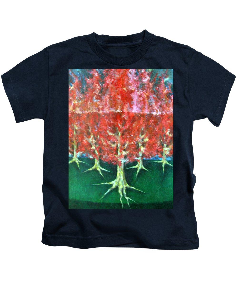 Colour Kids T-Shirt featuring the painting Parade I by Wojtek Kowalski