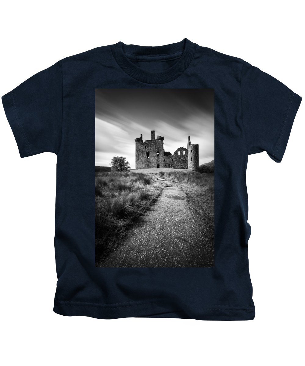 Kilchurn Castle Kids T-Shirt featuring the photograph Path To Kilchurn Castle by Dave Bowman