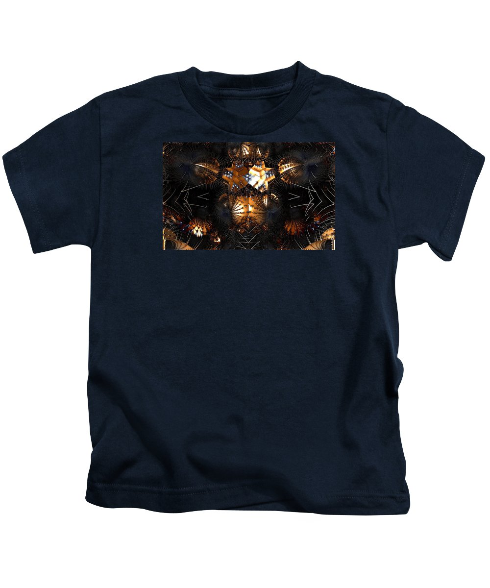 Abstract Kids T-Shirt featuring the digital art Paths Of Pain by Jeff Iverson